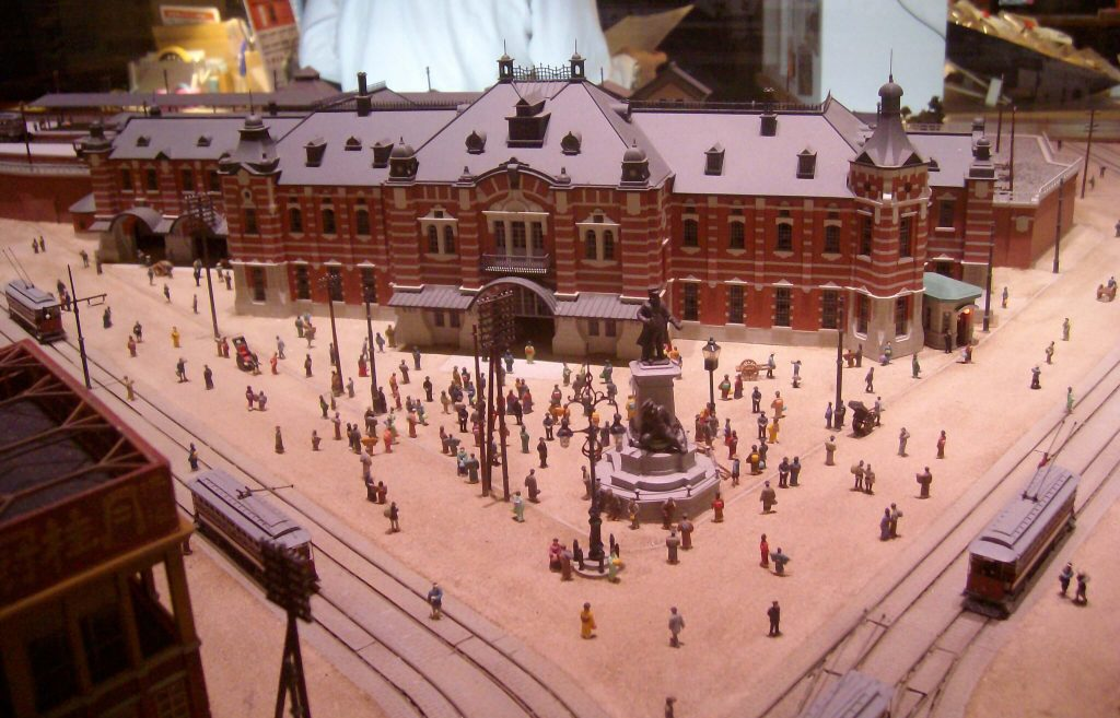 Scale model of the original Manseibashi Station