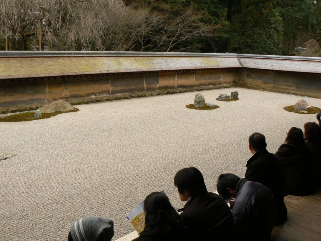 The rock garden at Ryoanji, Kyoto