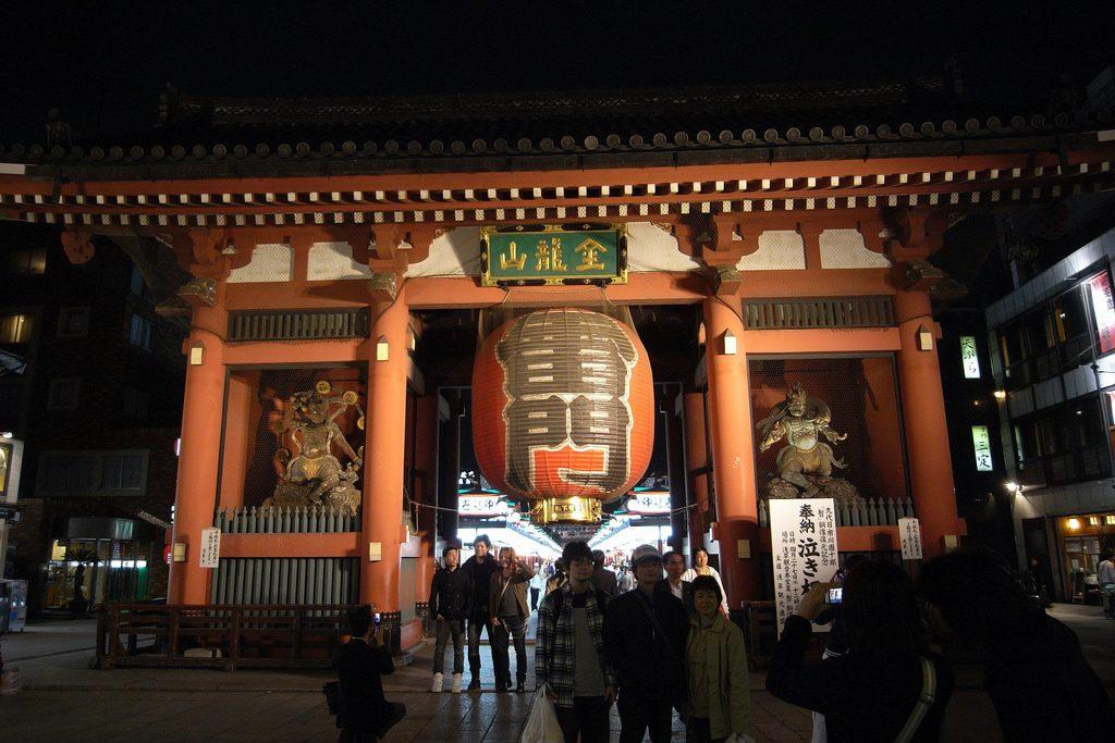 Fujin & Raijin at the Kaminarimon, Senso-ji, Tokyo
