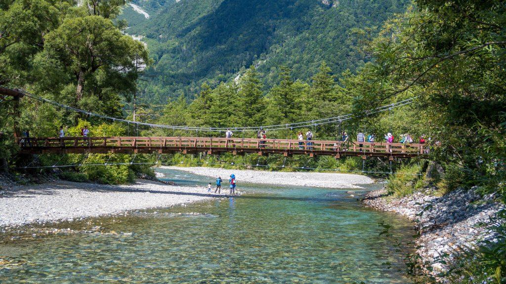 Kappabashi Bridge, Kamikochi, Nagano