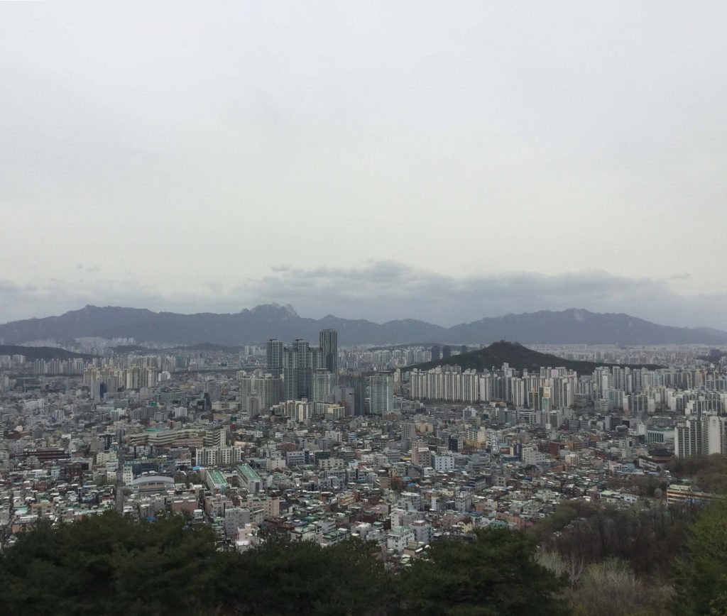View over northern Seoul from Achasan