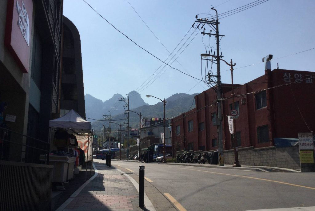 View of Bukhansan from the station in Ui