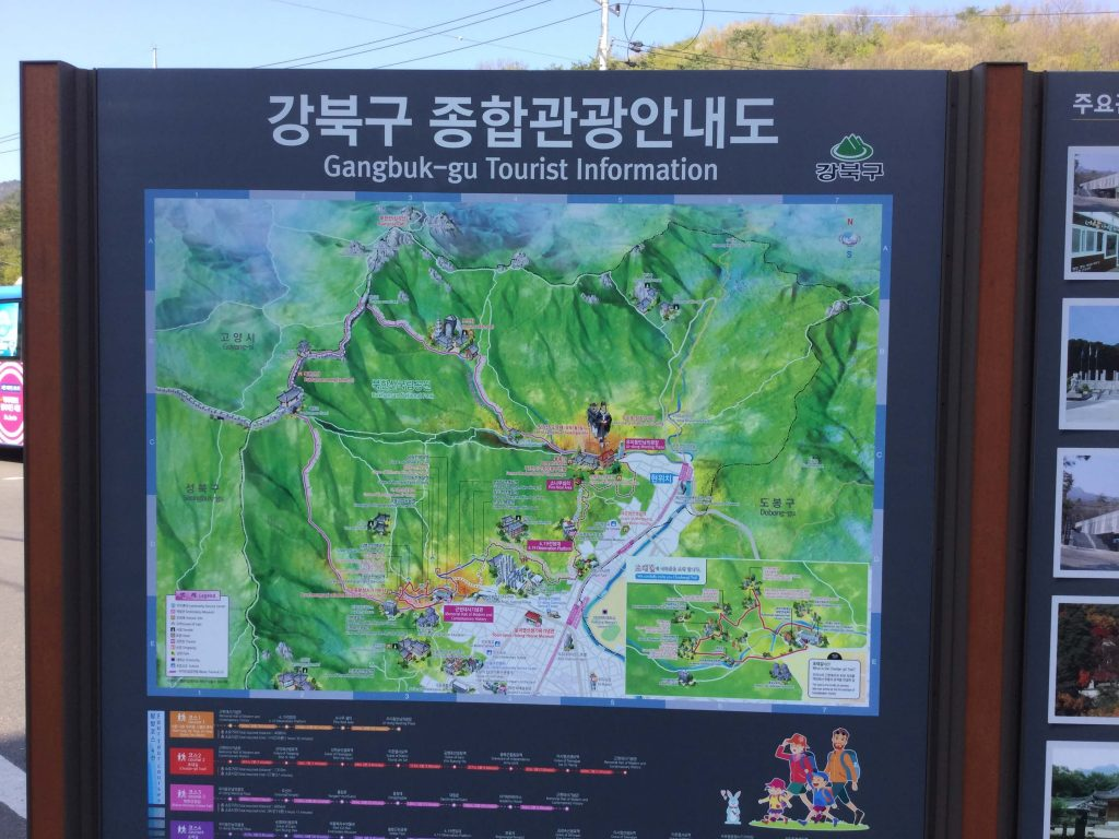 Bukhansan trail map
