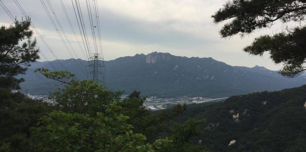 View of Dobongsan from Suraksan