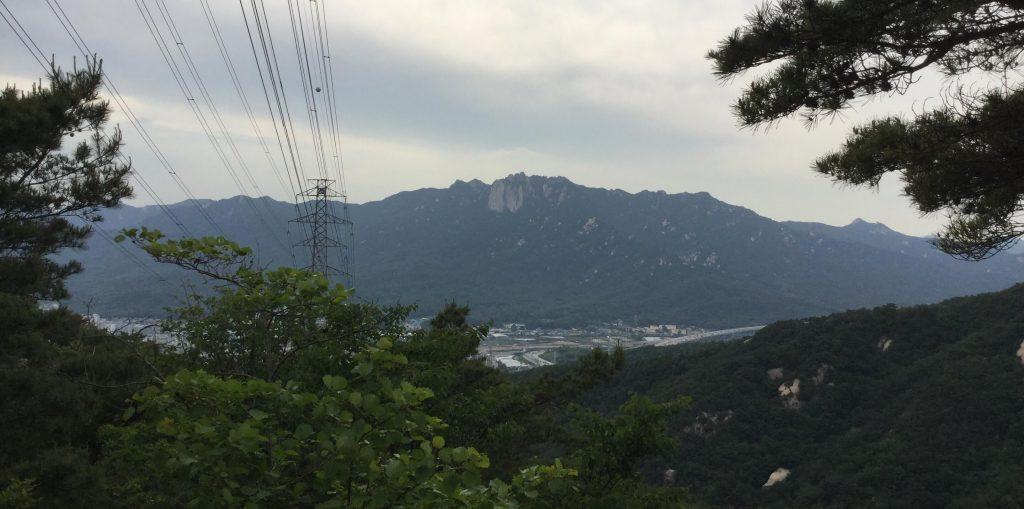 View of Dobongsan from Suraksan