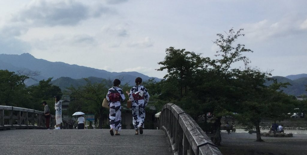 River & mountain views in Arashiyama