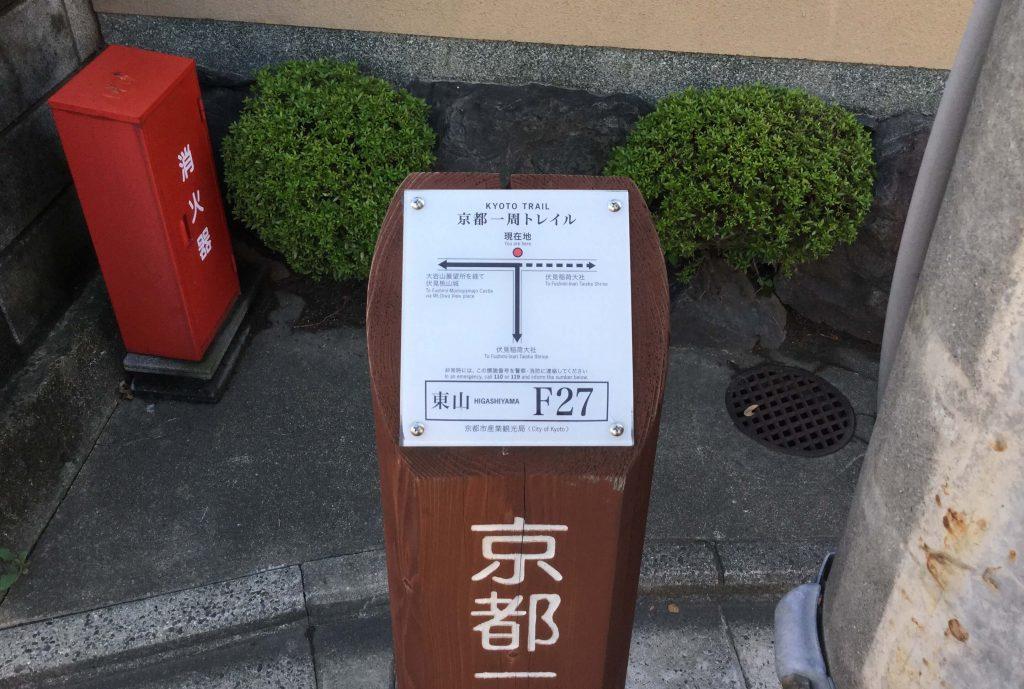 Fushimi Fukakusa trail board 27