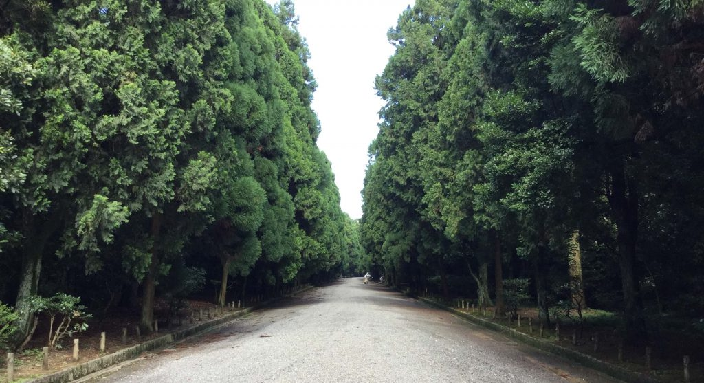Approach to the Meiji mausoleum