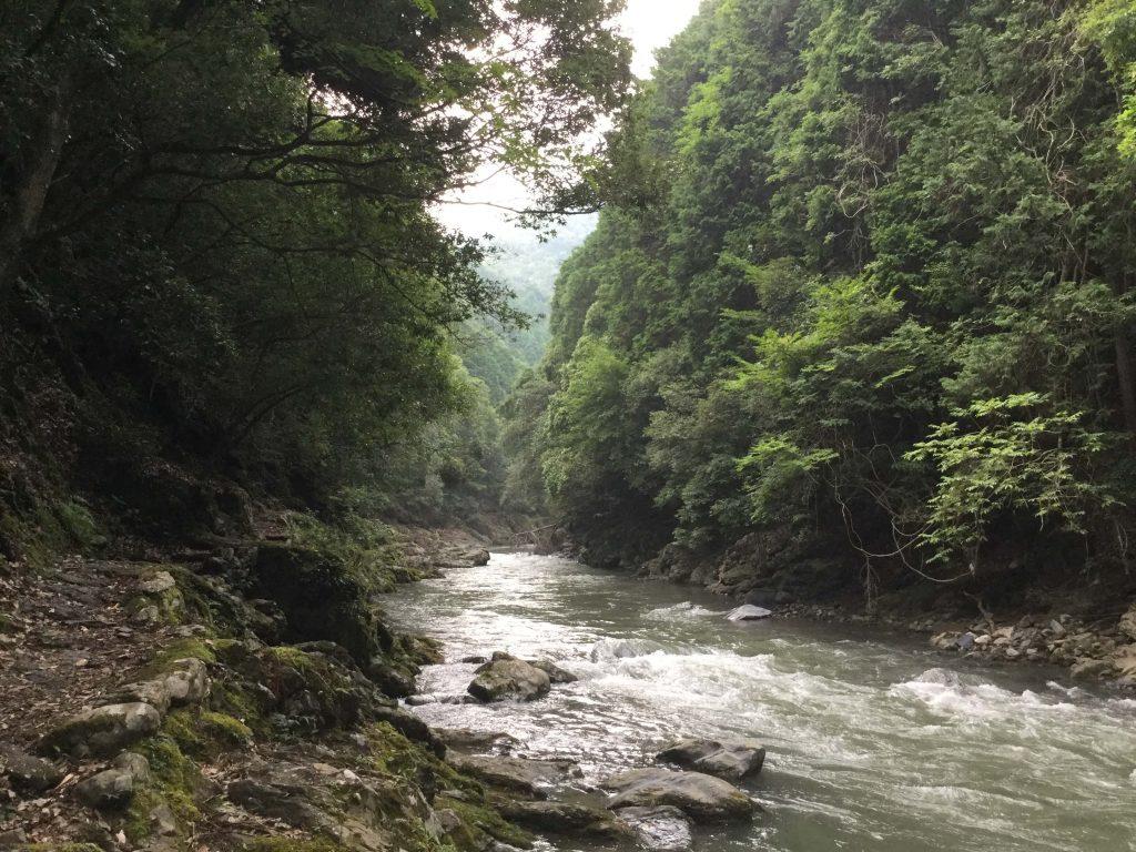 Hiking along the Kiyotake River