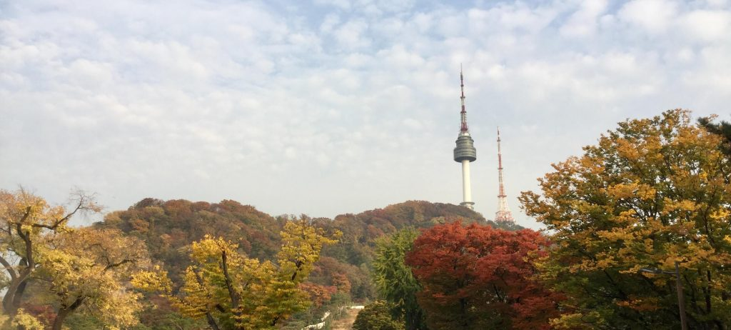 Seoul autumn colours at Namsan