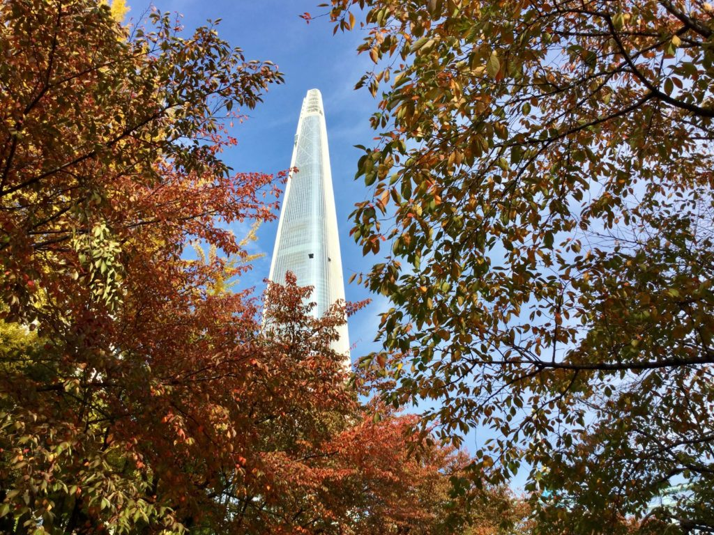 Autumn colours at Seokchon Lake