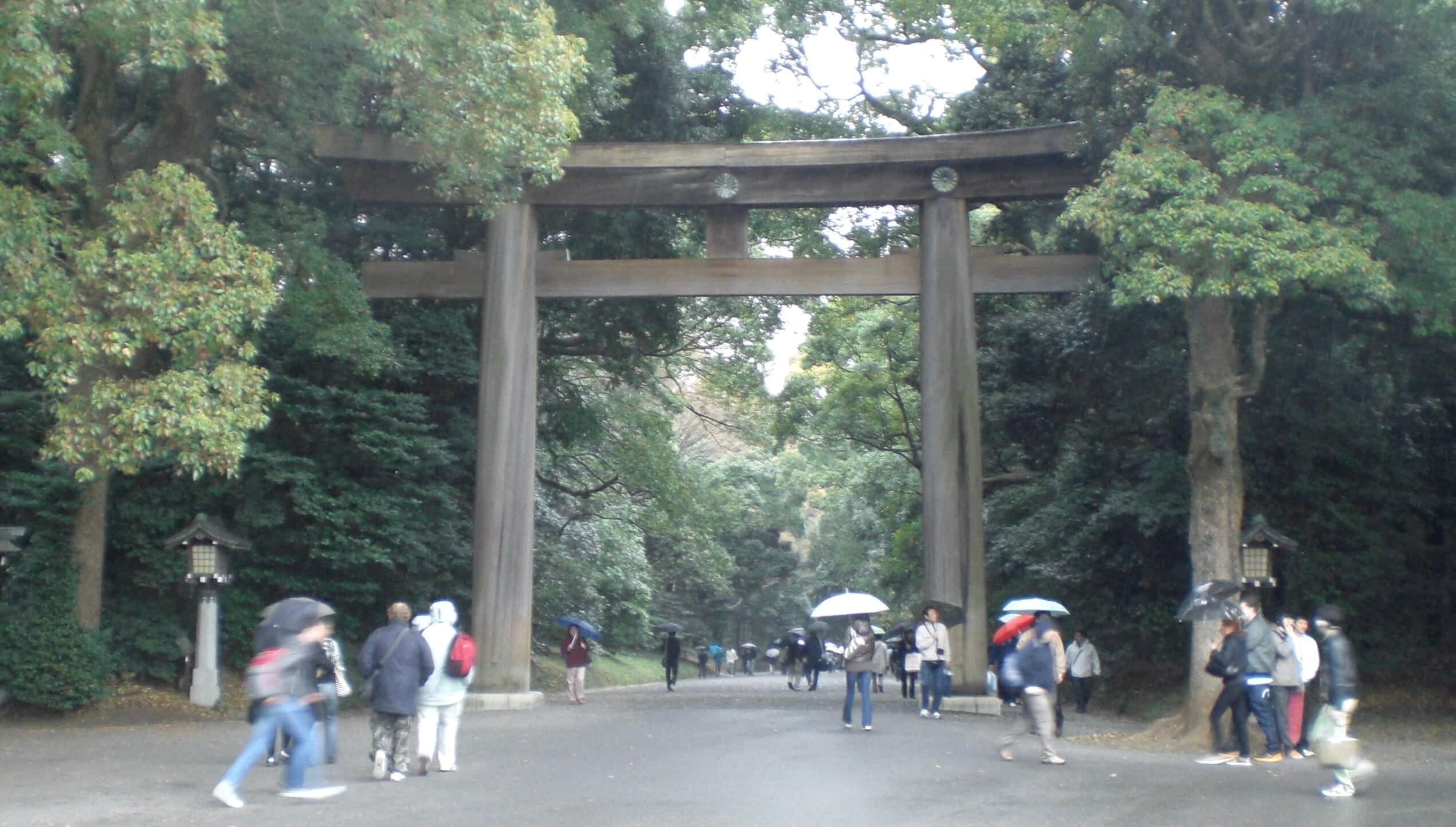Meiji Shrine entrance torii, Harajuku, Tokyo