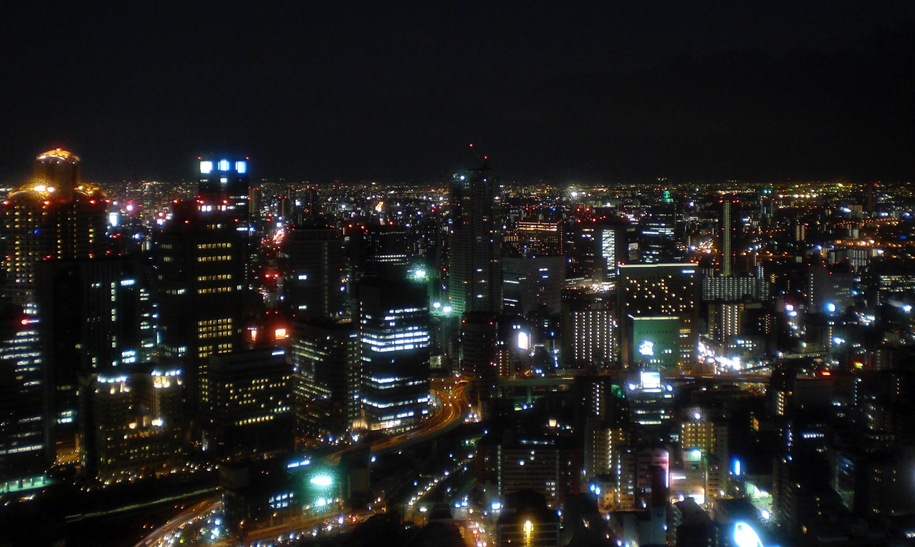 Osaka night view from the Umeda Sky building
