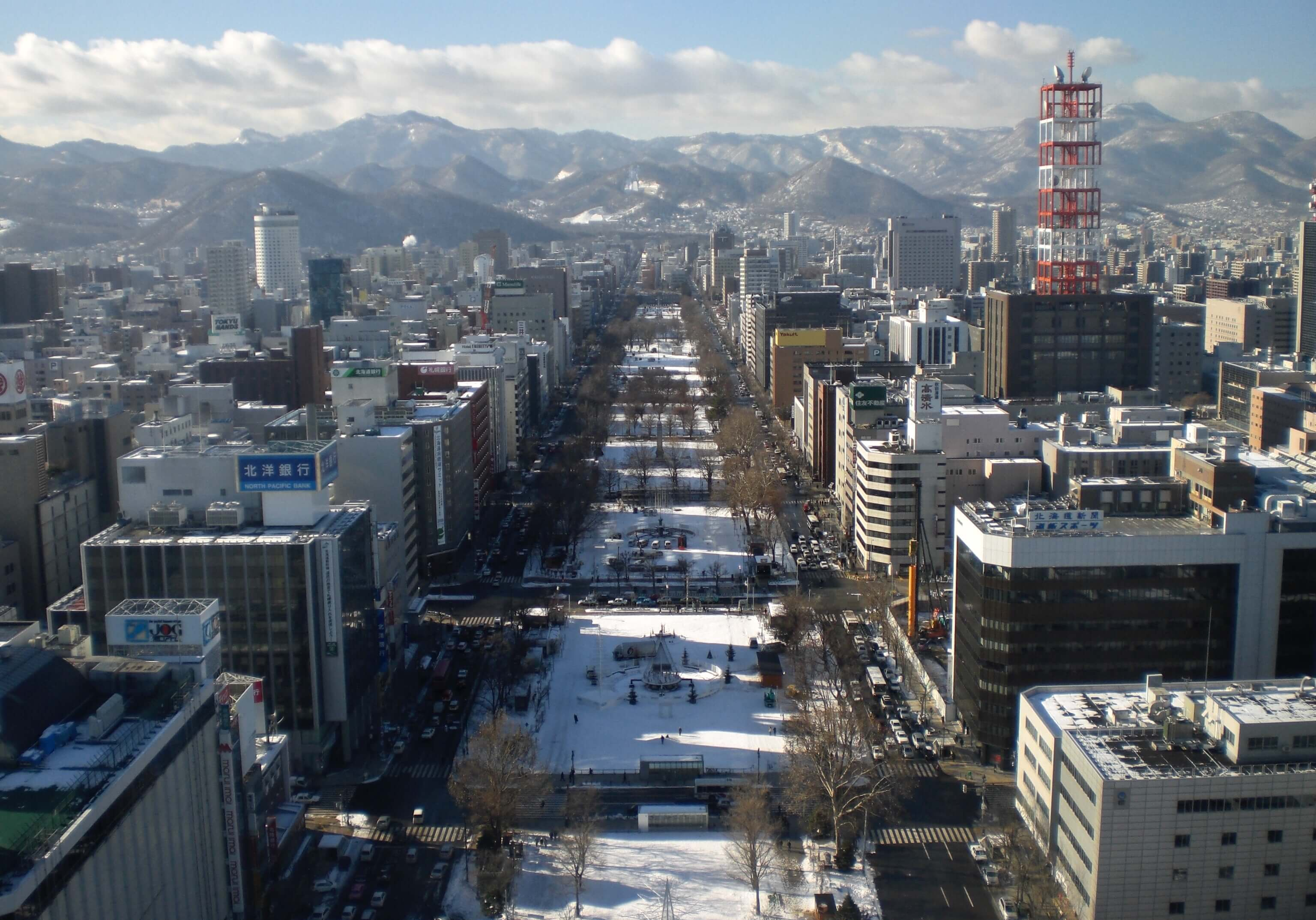 View of Odori Park from Sapporo TV Tower