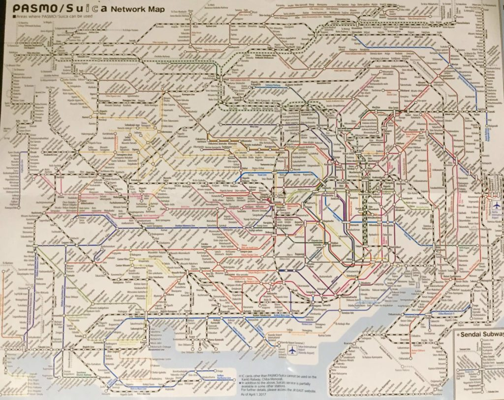 Tokyo transportation map