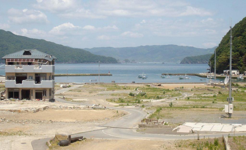 Tsunami damage in Funakoshi