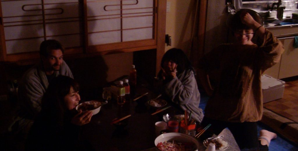 Volunteer dinner in Ishinomaki