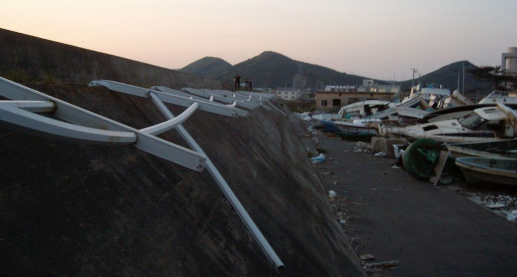 Boat junkyard in Ishinomaki after the 2011 tsunami