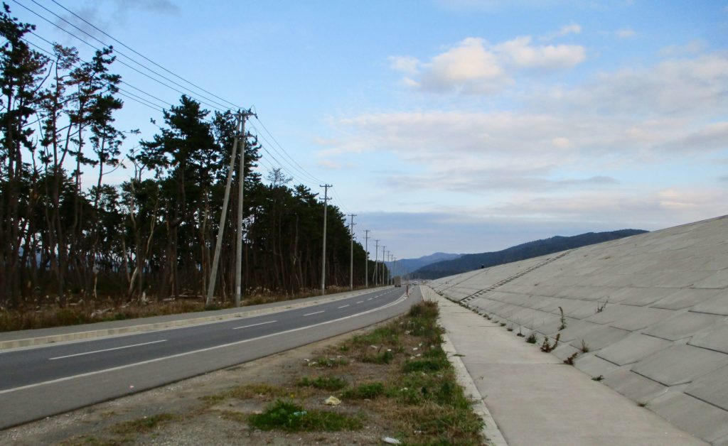 The new seawall in Ishinomaki