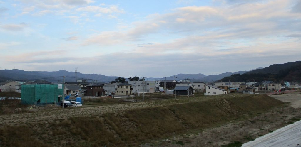 Improved ocean defences in the Watanoha district of Ishinomaki