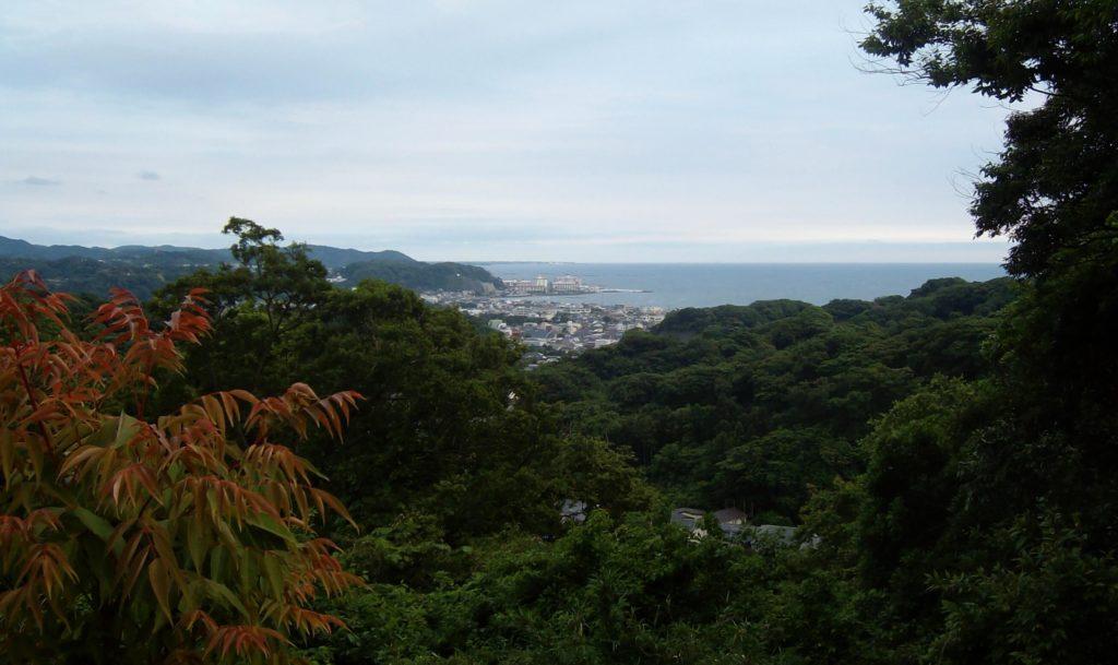 Ocean view from the Kamakura Great Buddha hiking trail