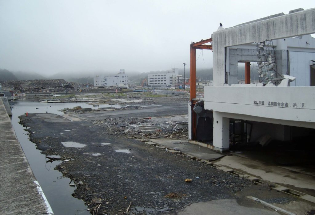 The desolation of Minami Sanriku following the 2011 tsunami