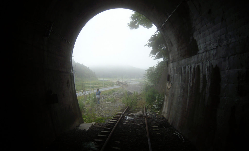 Damaged railway line near Minami Sanriku following the 2011 tsunami