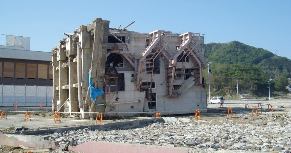 Tsunami damage in Onagawa