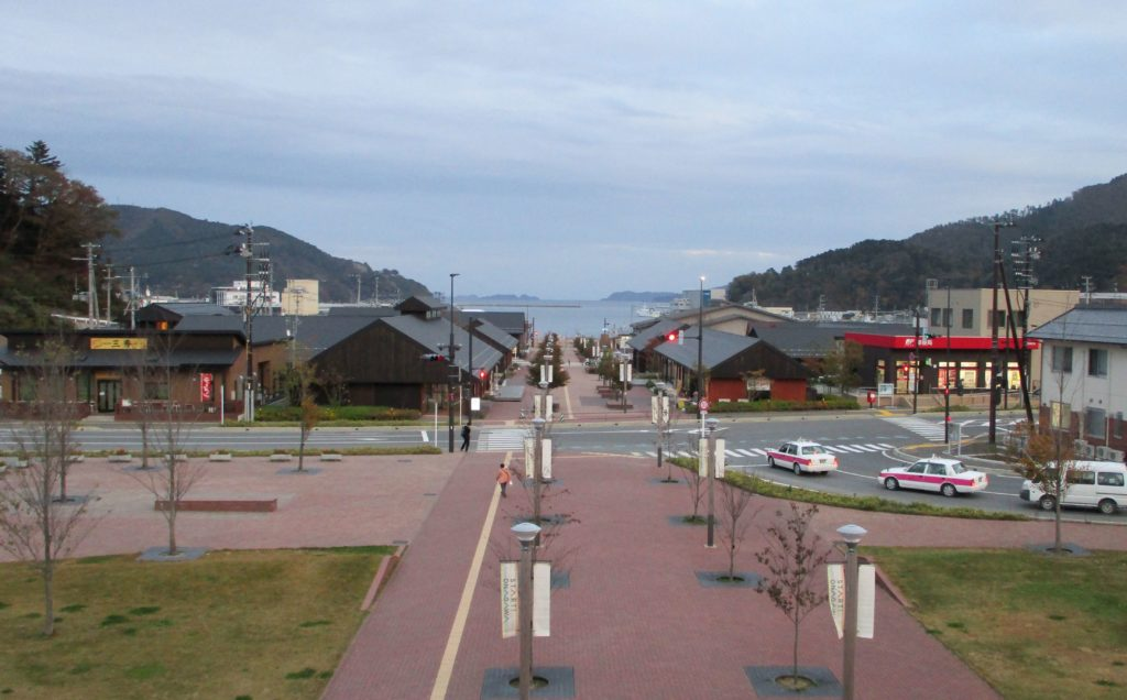 Rebuilt shopping area in Onagawa
