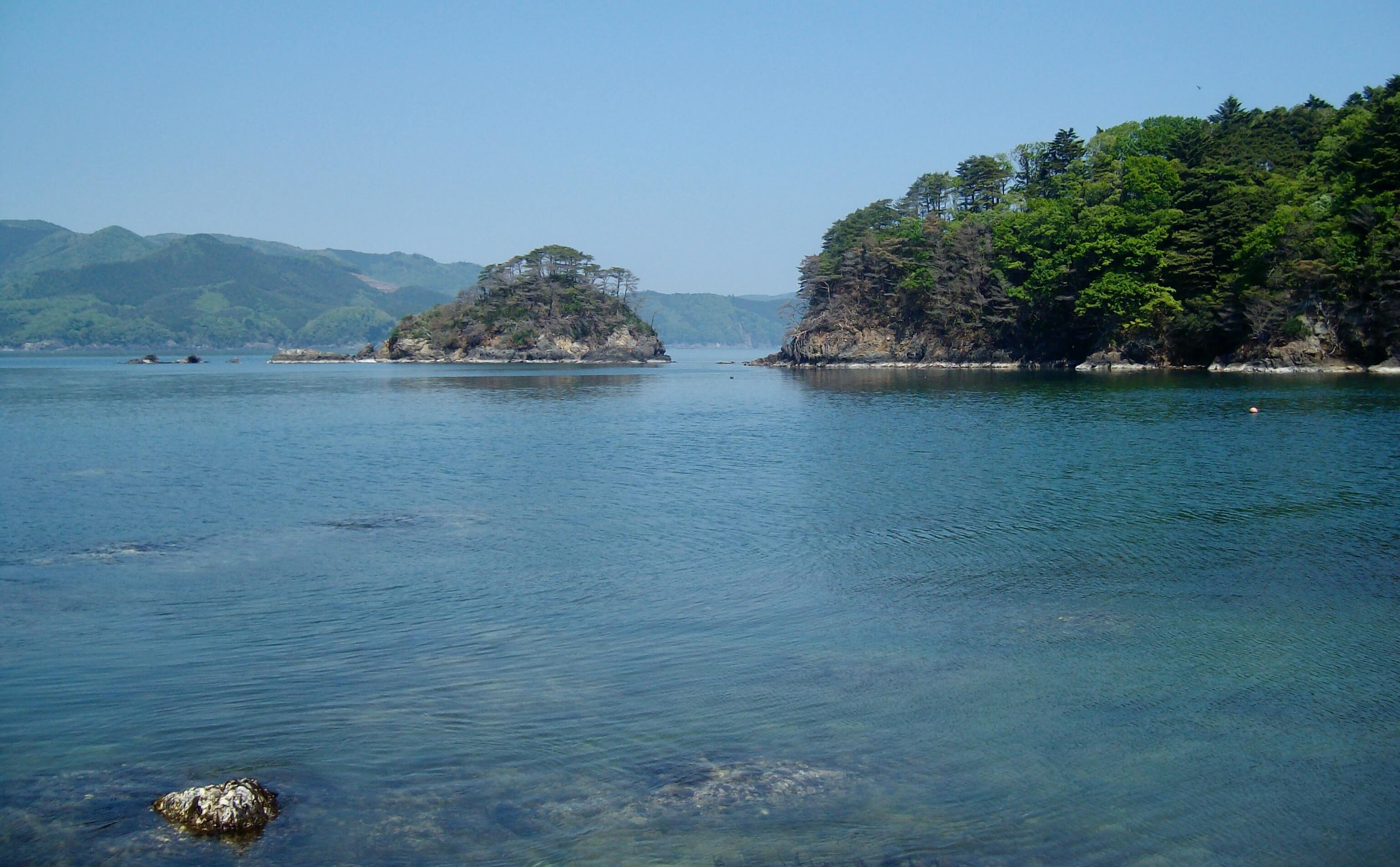 Beautiful coastline near Onagawa, Miyagi Prefecture, Japan