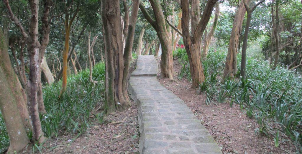 The Bailusishan hiking trail