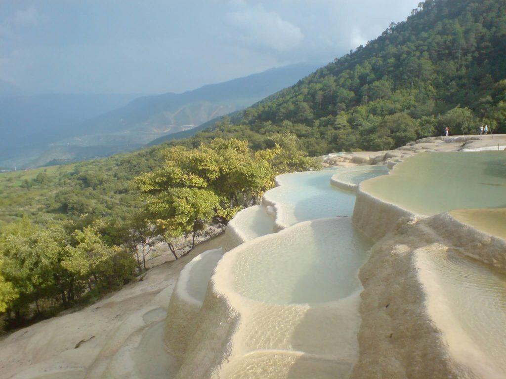 Rock pools at Baishuitai