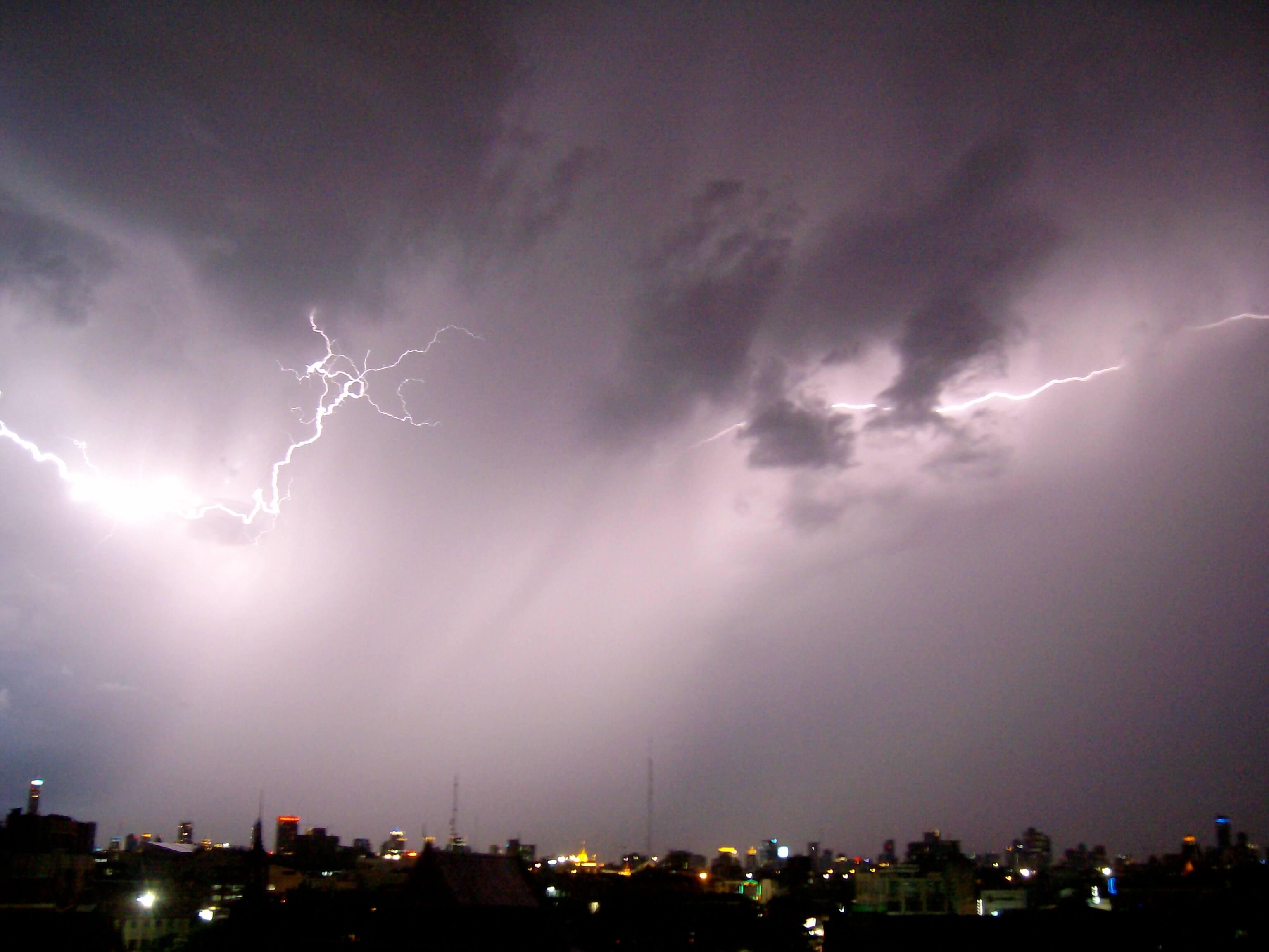 Lightning storm over Bangkok