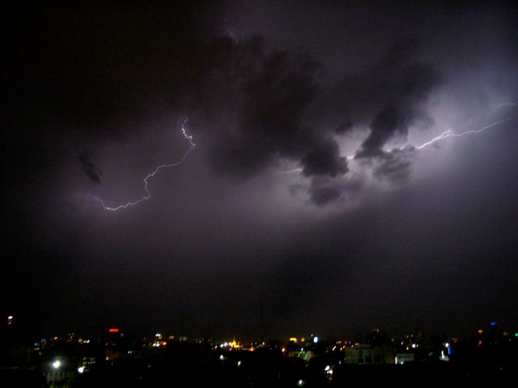 Lightning storm over Bangkok