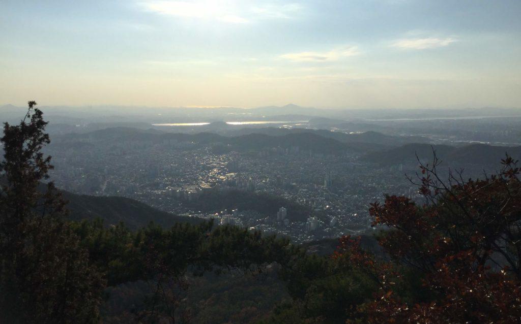 Hiking up Bibong Peak in Bukhansan National Park, Seoul