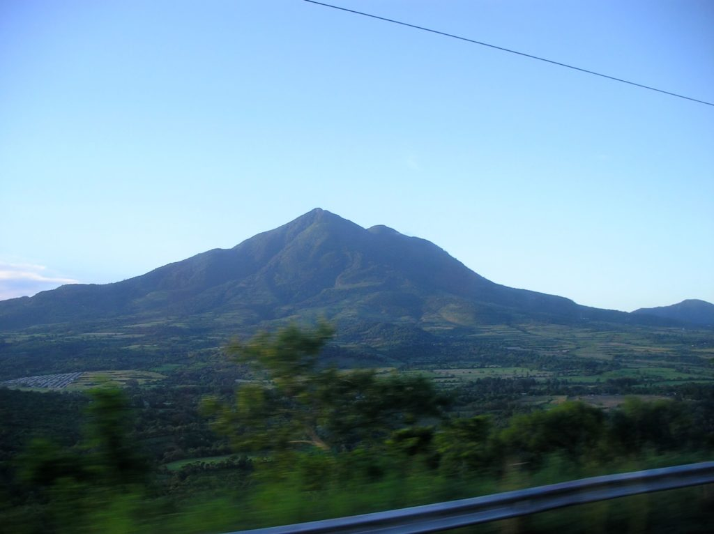 Mountain views from the highway in El Salvador