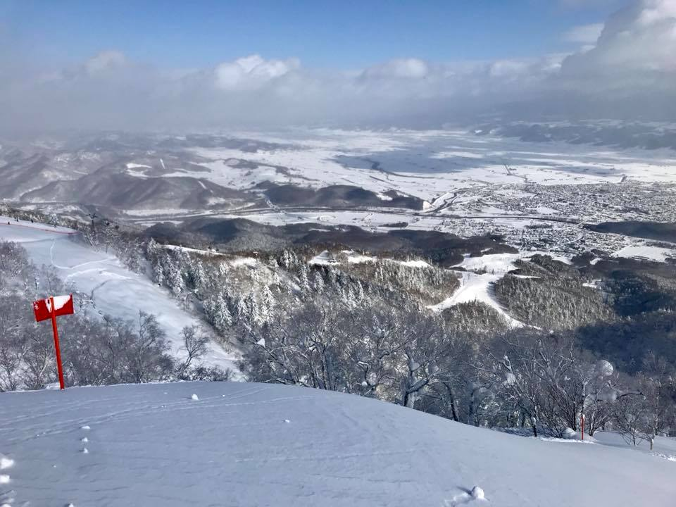 View from the top of Furano