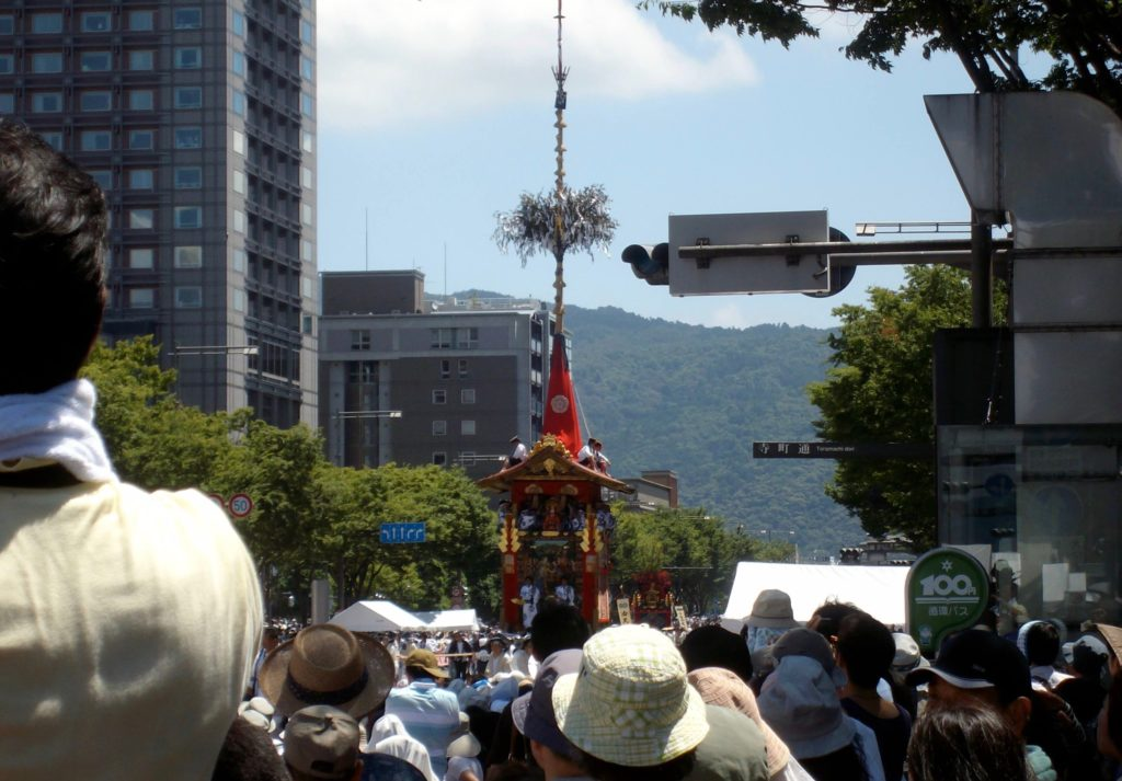 Gion Festival float on Oike-dori