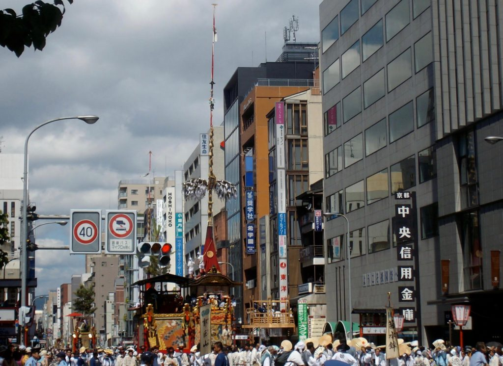 Gion Festival floats on Shijo-dori