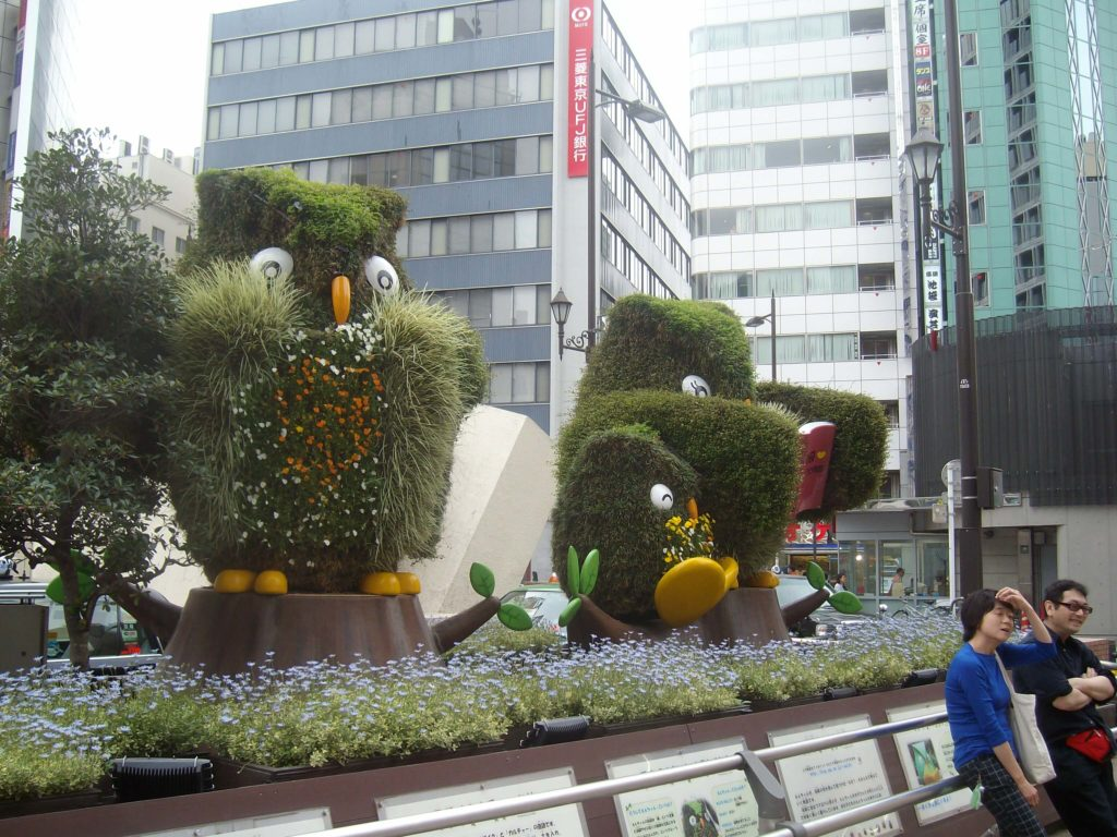 Owls in front of Ikebukuro Station