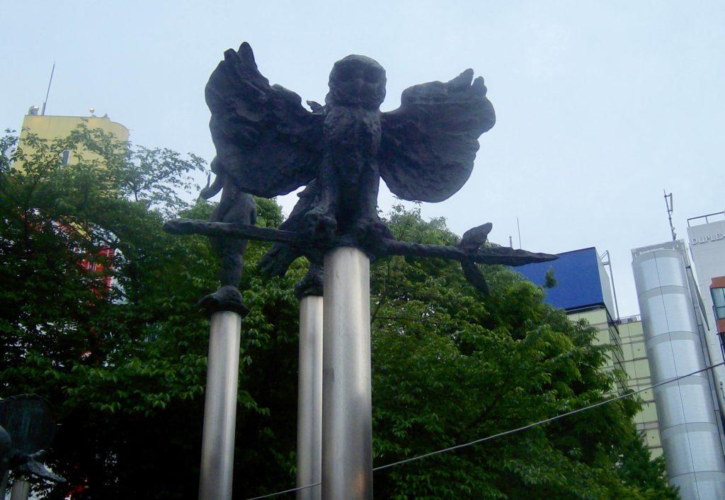Owl statue near Ikebukuro Station