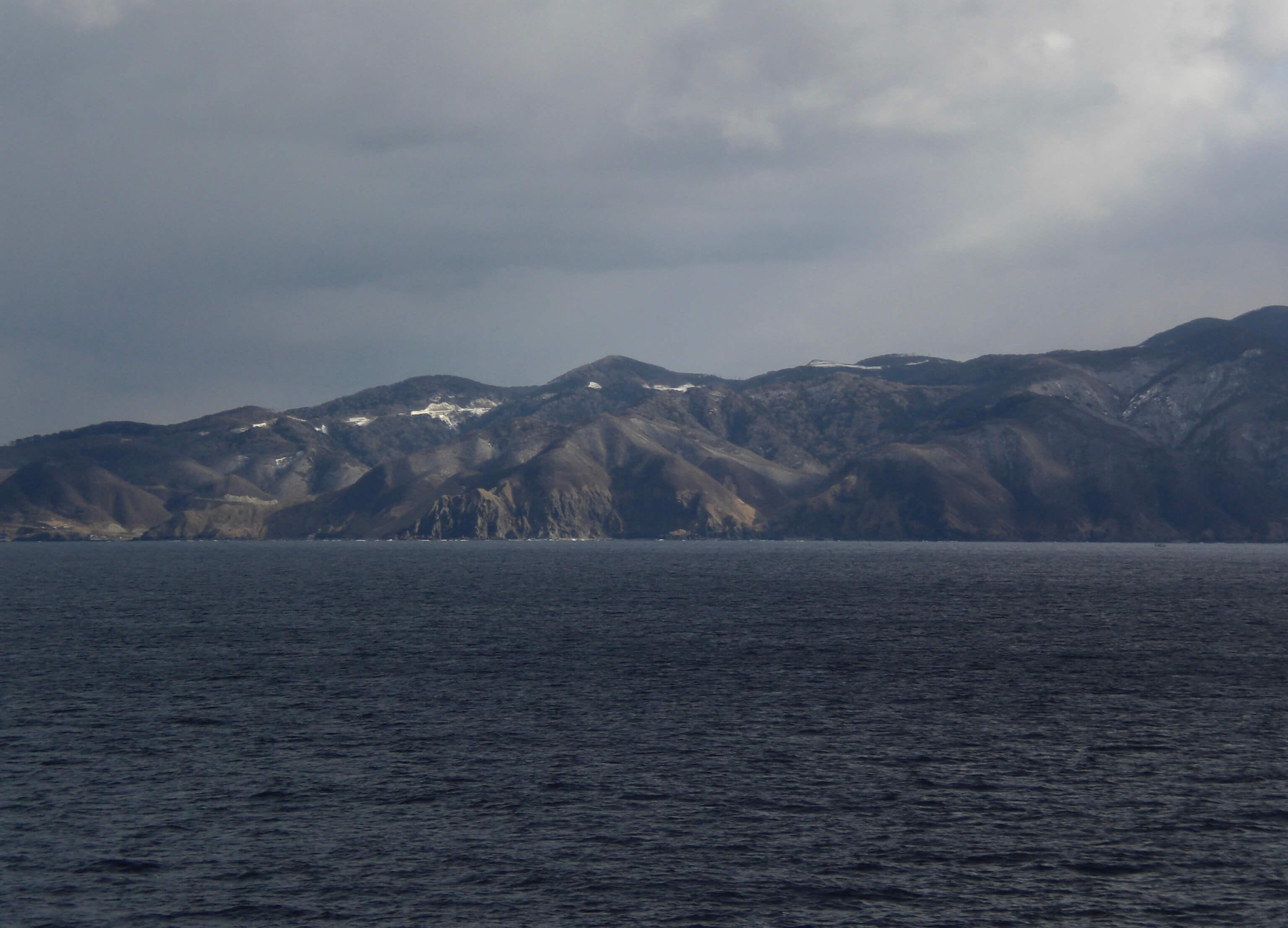 Coastal scenery on the ferry to Hokkaido