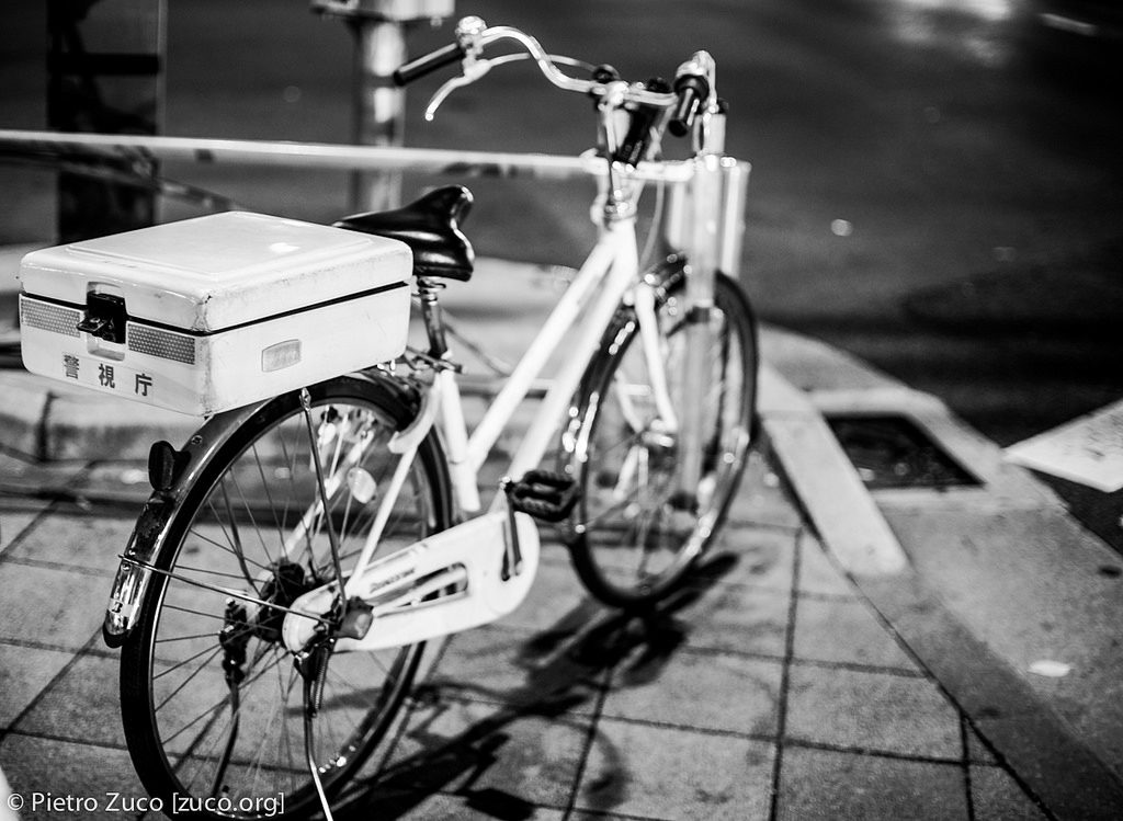 A Japanese police bicycle
