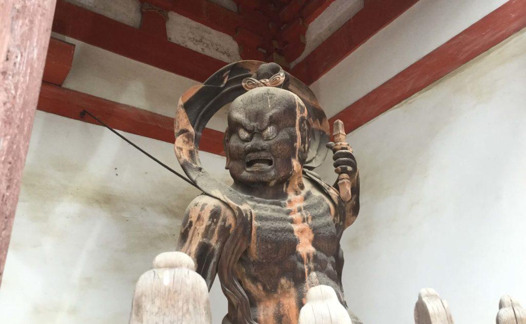 Nio statue at Daigo-ji