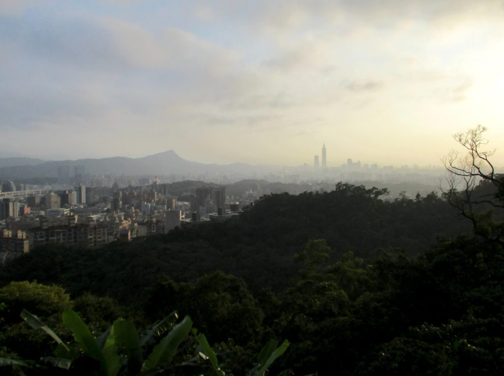View of Elephant Mountain & Taipei 101 from Kangleshan
