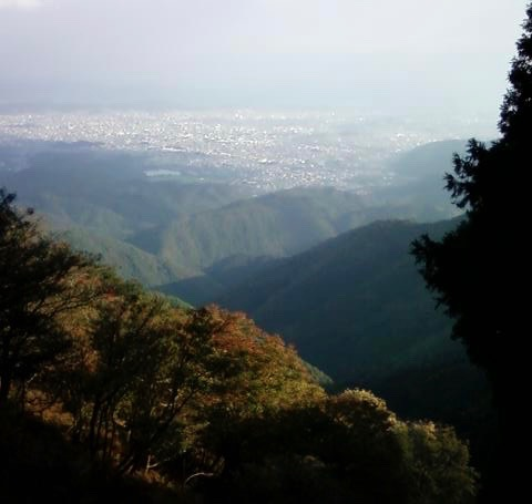 View over Kyoto from Mt Atago