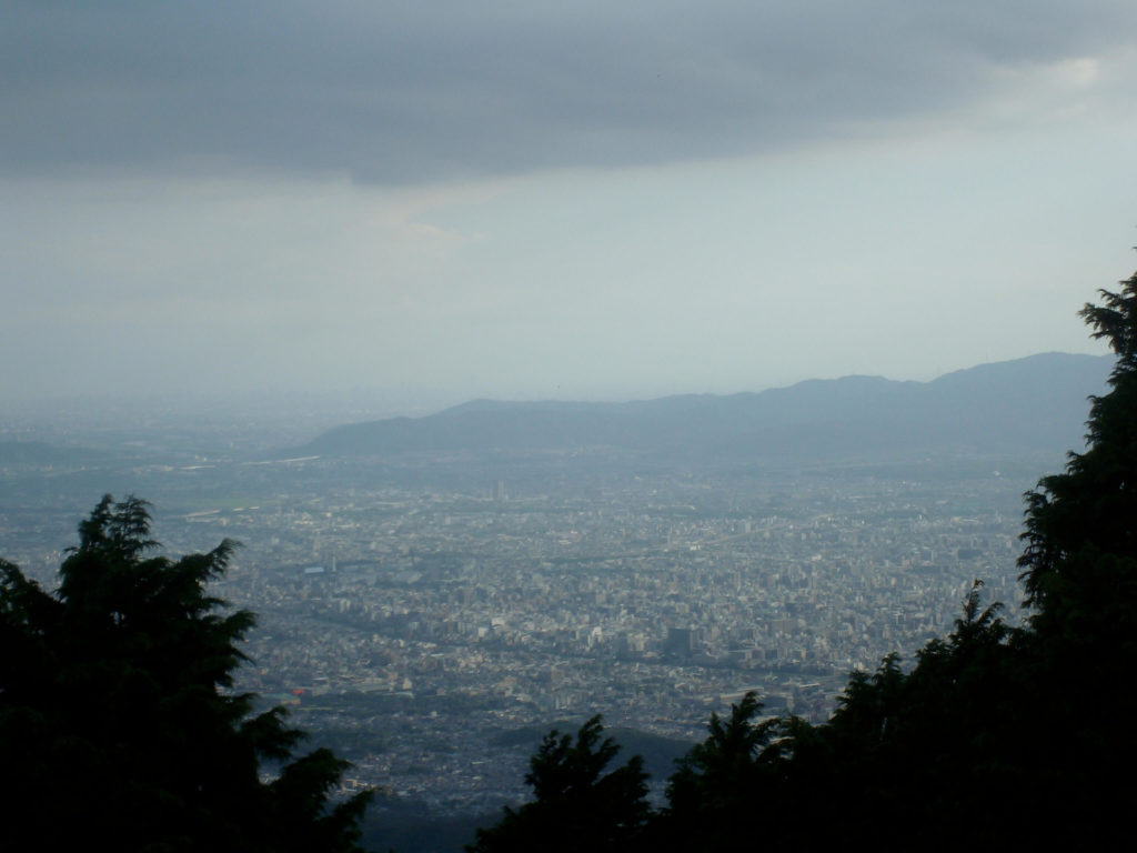 Views over Kyoto from Mt Hiei