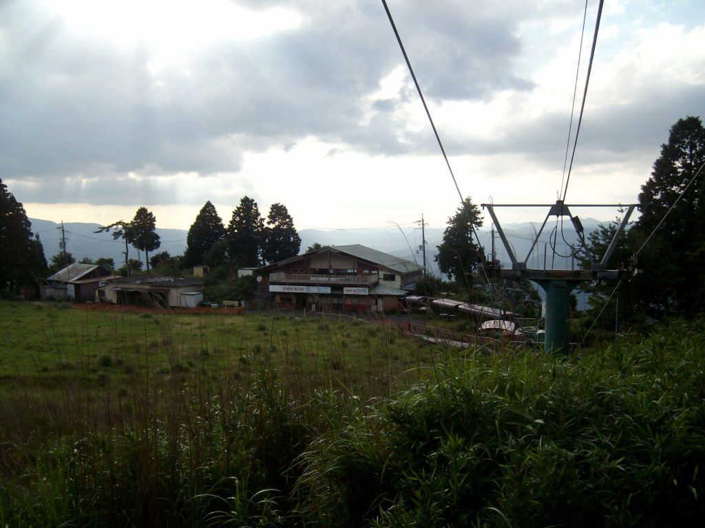 The abandoned old ski slope near the top of Mt Hiei