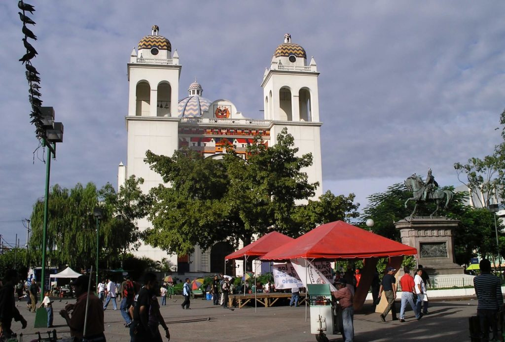 The cathedral in San Salvador