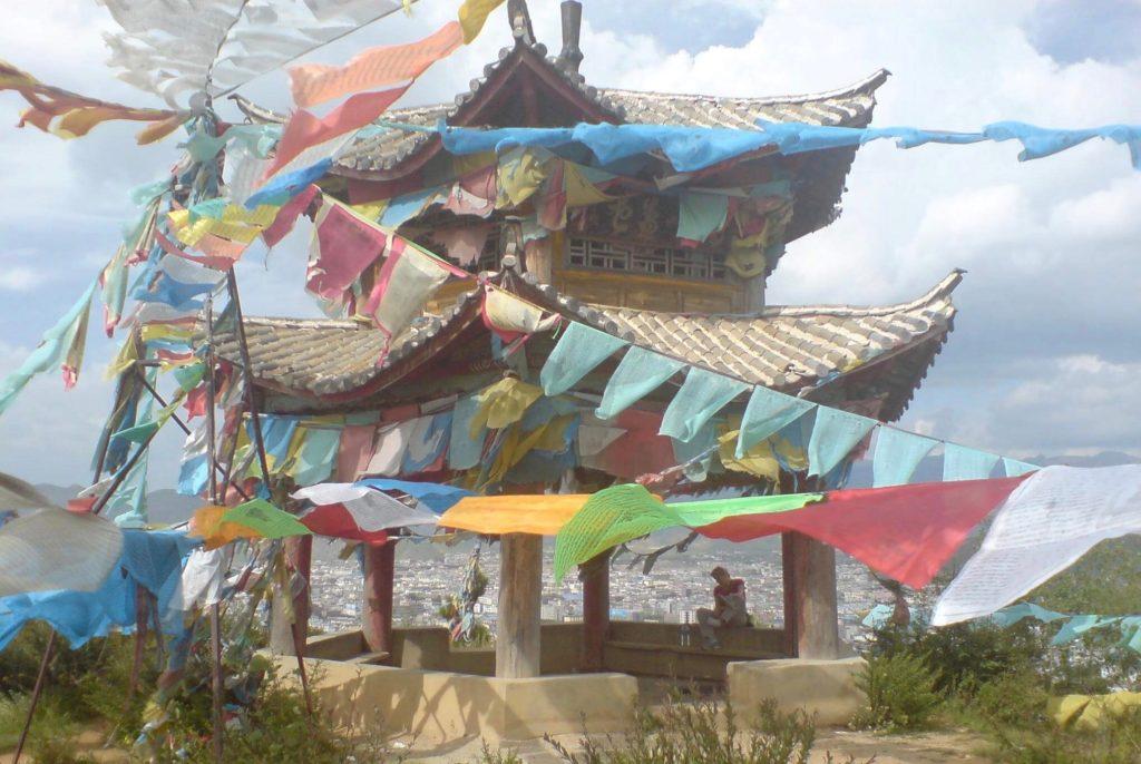 Pagoda on the hill above Shangri La